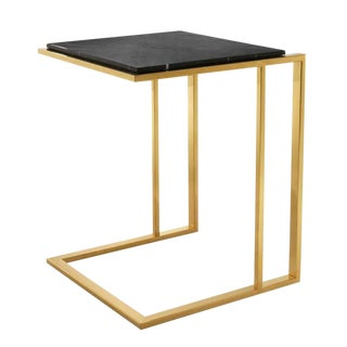 Contemporary Eichholtz Cocktail Gold Finish Side Table For Sale