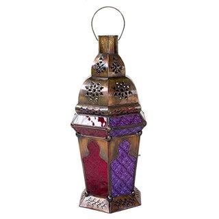 Moroccan Gem Candleholder Lantern