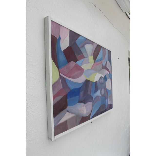 Vintage Cubist Painting of a Woman - Image 3 of 10