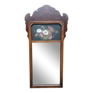 Hitchcock & Co Reversed Painted Chippendale Style Mirror For Sale