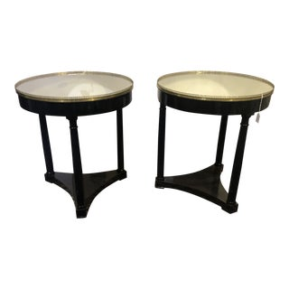 1940s French Empire Side Tables - a Pair For Sale