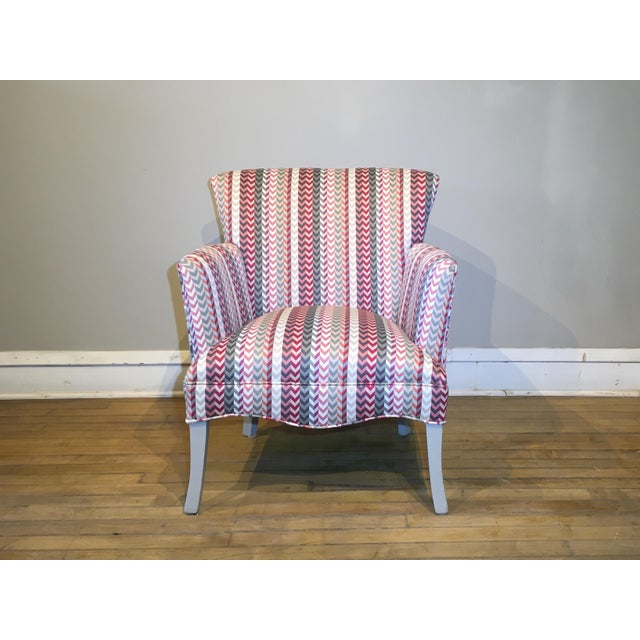 Mid 20th Century Vintage Mid Century Petite Armchair For Sale - Image 5 of 8