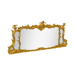 Carvers Guild Carved Gilt Wood Rococo Style Mantel Mirror