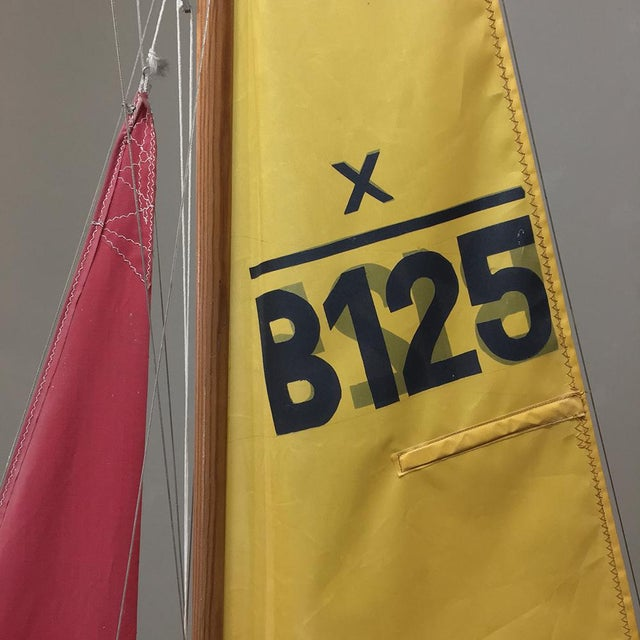 Mid-Century Scale 12 Meter Racing Yacht For Sale In Baton Rouge - Image 6 of 11
