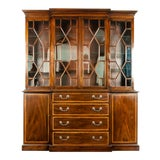 Image of 19th Century Chippendale Style Mahogany Hutch / China Cabinet For Sale