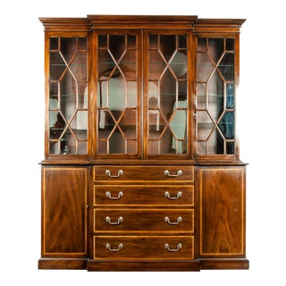 19th Century Chippendale Style Mahogany Hutch / China Cabinet For Sale
