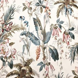 Boho Chic Schumacher Barbuda Cotton Designer Fabric For Sale