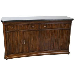 Thomasville French Art Deco Granite Top Sideboard For Sale