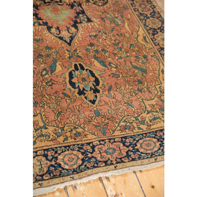 "Blue Antique Farahan Sarouk Persian Rug - 3'10"" X 6'6"" For Sale - Image 8 of 13"