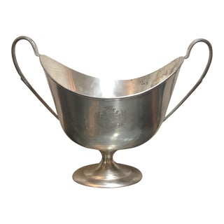 Silver Plate Trophy Form Champagne Bucket Cooler For Sale