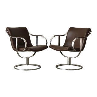 Gardner Leaver for Steelcase Lounge Chairs - a Pair For Sale