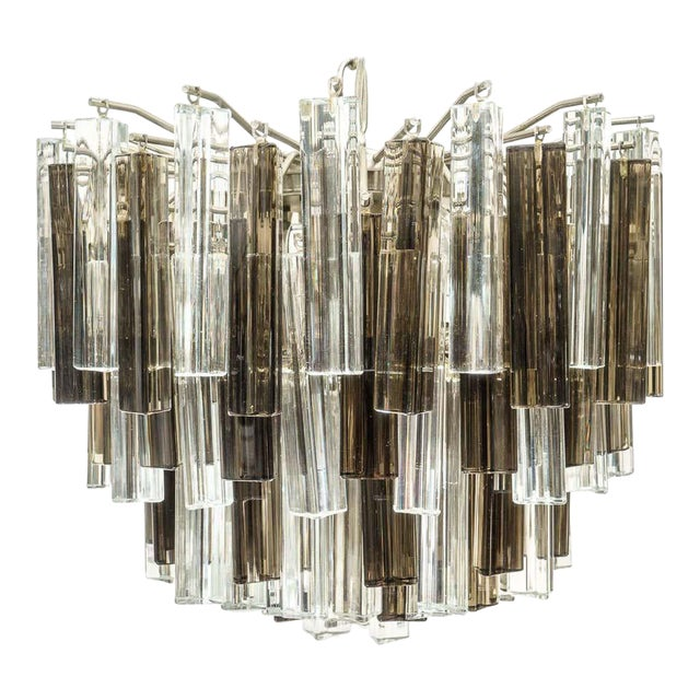 Murano Glass Chandelier Smokey Topaz by Venini for Camer Glass For Sale