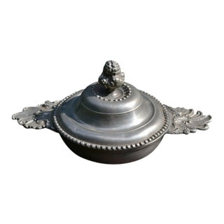 Rococo Signed Pewter Quaich For Sale
