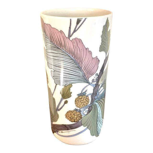 Rosenthal Germany Studio Line Large Gilt Botanical Vase For Sale
