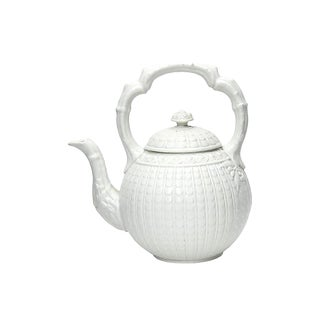 Antique Copeland Spode Salt Glaze Teapot, C.1880 For Sale