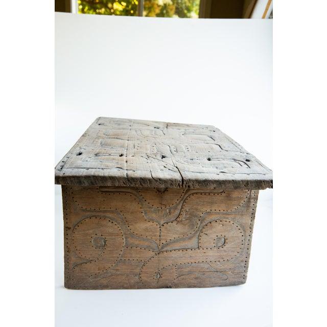 Phenomenal 20Th Century Primitive Elaborately Carved Wood Stool Creativecarmelina Interior Chair Design Creativecarmelinacom