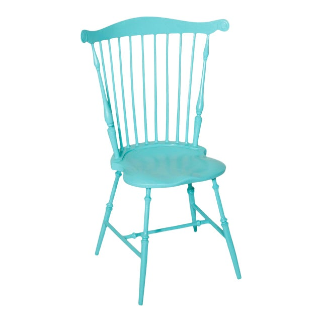 Fanback Outdoor Chair in Porcelain Edge For Sale