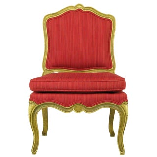 Carved & Lacquered Wood Queen Anne Style Child's Chair For Sale