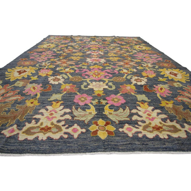 Contemporary Turkish Oushak Rug - 9′10″ × 13′5″ For Sale - Image 4 of 7