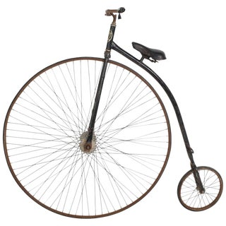 Velocipide Boneshaker High Wheel Bike, 1870s Victorian Era For Sale