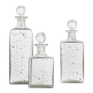Georgia Glass Decanters - Set of 3 For Sale