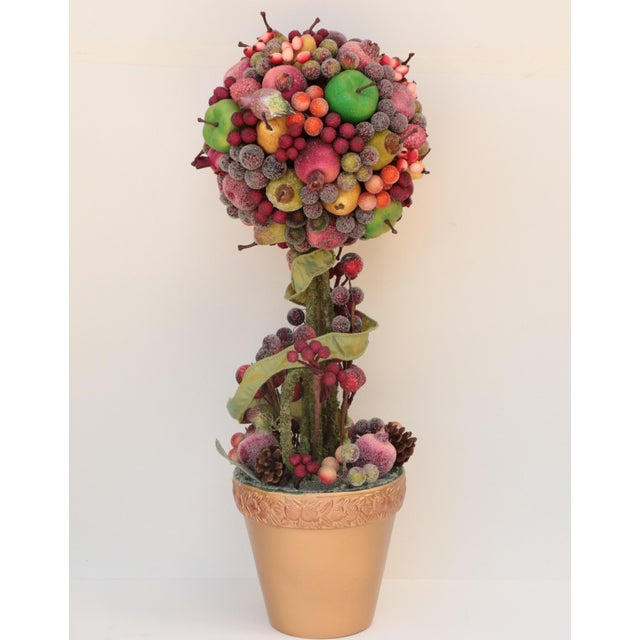 Christmas Topiary.Waterford Sugar Plum Christmas Topiary