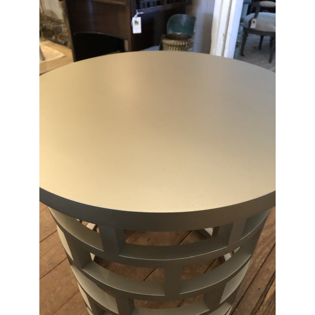 Contemporary Silver Contemporary Side Table For Sale - Image 3 of 8