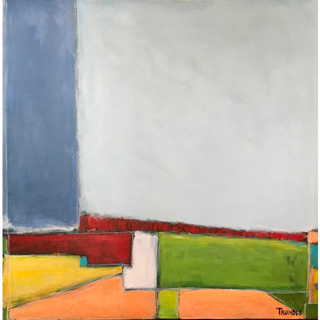 """""""Primary Landscape"""" - Contemporary Abstract Landscape Painting For Sale - Image 6 of 6"""