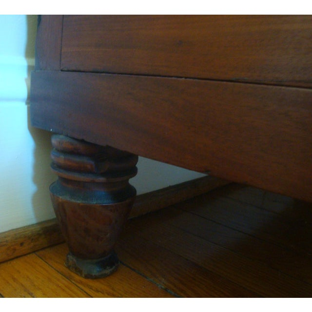 19thC Antique Burl & Walnut Empire Chest of Drawers For Sale - Image 11 of 12