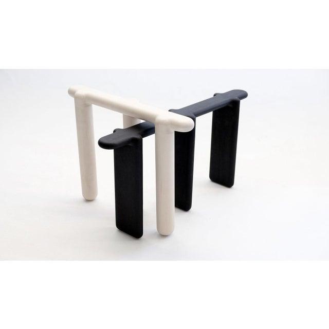 Black Loïc Bard Stool Bone 08 For Sale - Image 8 of 11
