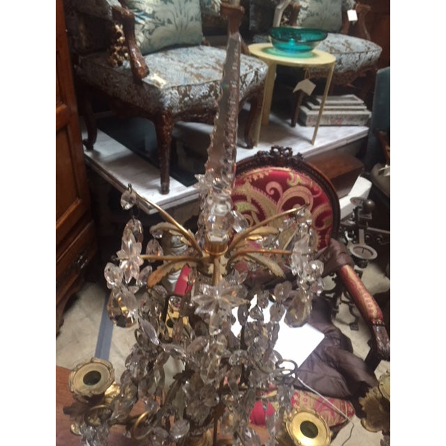 Metal Early 19th Century French Dore Bronze & Crystal Girandoles - a Pair For Sale - Image 7 of 12
