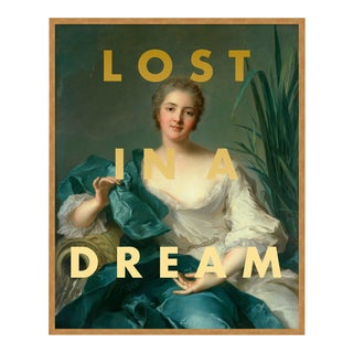 Lost in a Dream by Lara Fowler in Gold Framed Paper, Small Art Print For Sale