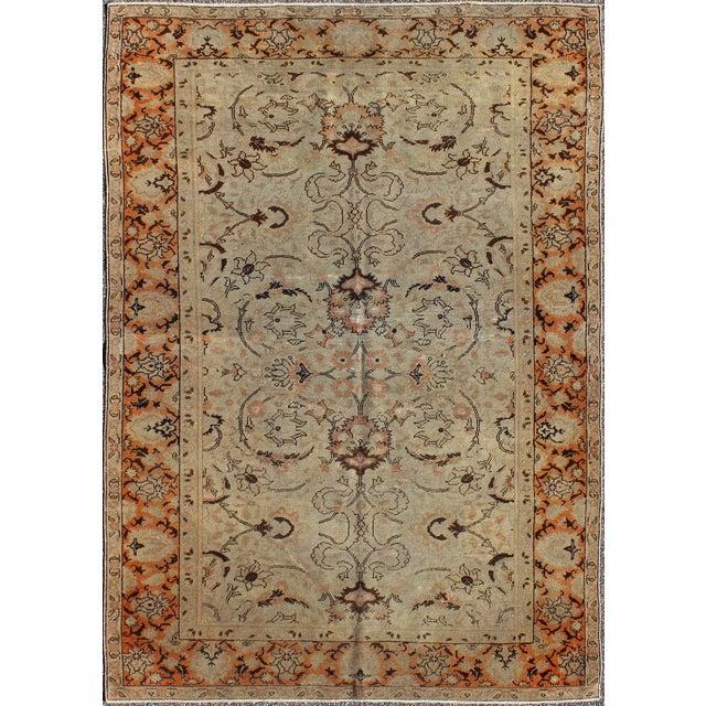 Textile 1920s Antique Sivas Rug - 3′10″ × 5′5″ For Sale - Image 7 of 7