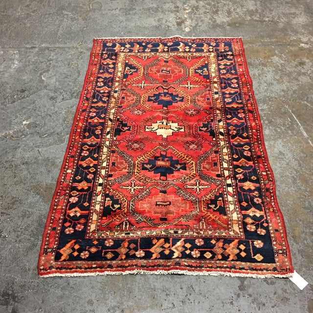 Islamic Hand Woven Wool Persian Rug - 4′3″ × 7′ For Sale - Image 3 of 7