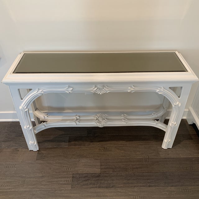 Mid Century Regency Serge Roche Console Table For Sale - Image 9 of 12