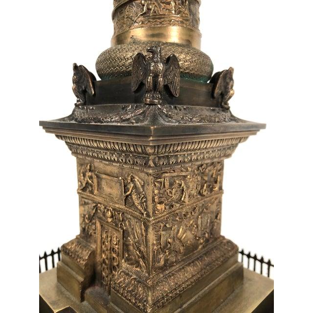Large Grand Tour Gilt Bronze Model of the Place Vendome Napoleon Column in Paris For Sale - Image 11 of 13