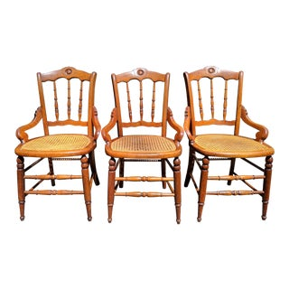 Vintage Mid Century Solid Maple Chairs- Set of 3 For Sale