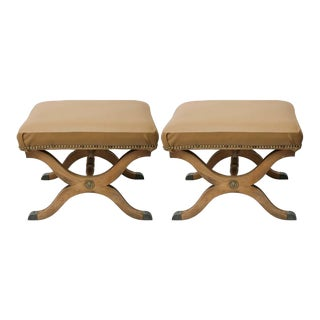 Pair of Dorothy Draper for Henredon Stools, 1960s For Sale