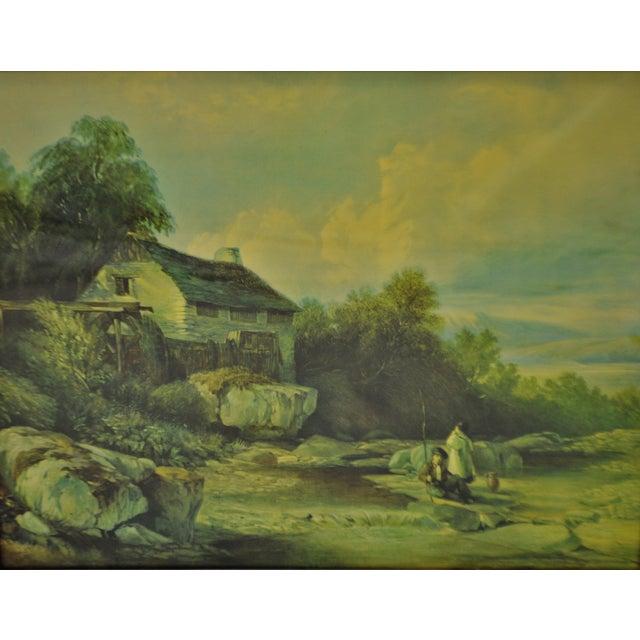 Vintage Framed Landscape Print by Muller For Sale In Philadelphia - Image 6 of 12