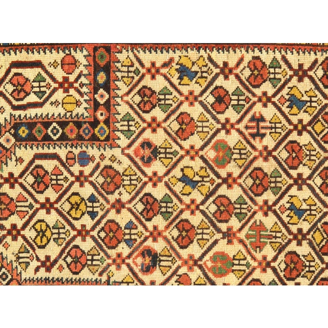 """Modern Pasargad NY Antique Russian Shirvan Hand-Spun Wool Pile Rug - 3'11"""" x 4'3"""" For Sale - Image 3 of 5"""