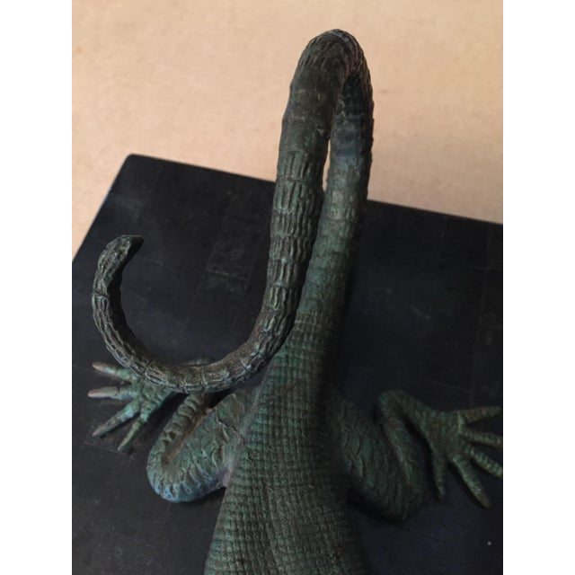 Maitland - Smith Maitland-Smith Bronze Lizard Tessellated Box For Sale - Image 4 of 7