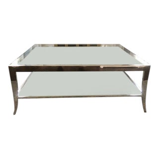 Contemporary Caracole Glass Cocktail Table For Sale