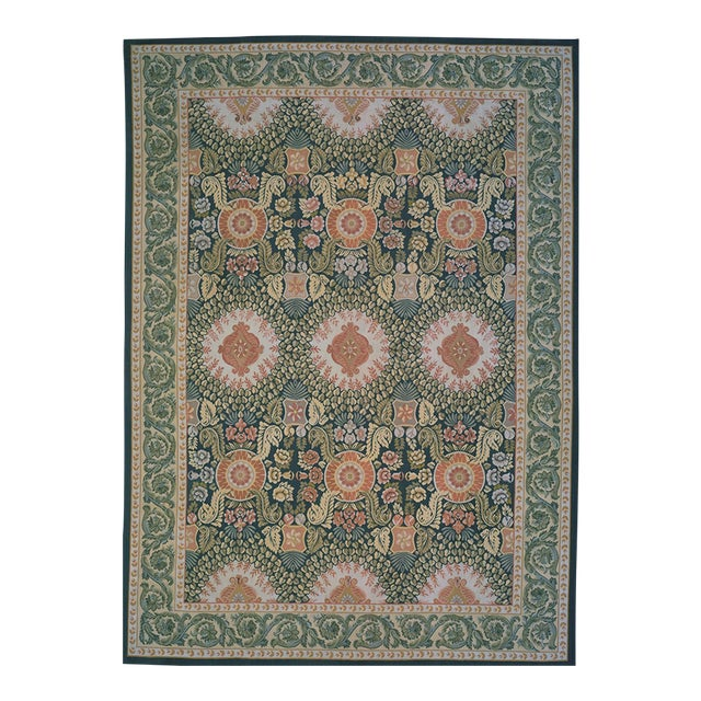 "Pasargad Aubusson Hand Woven Wool Rug - 8'10"" X 12' 0"" For Sale"