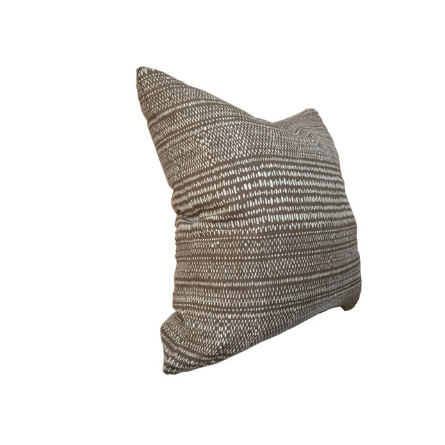 Custom Carolina Irving Organic Stripe Pillow For Sale - Image 4 of 5