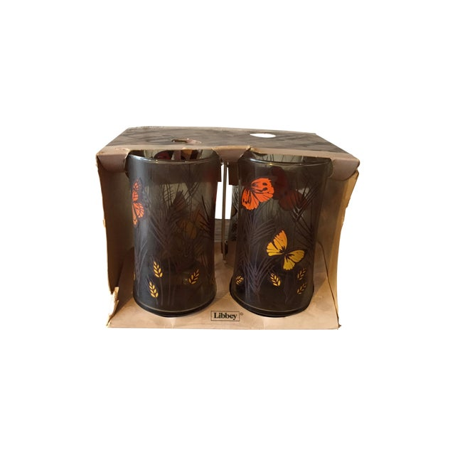Libbey Butterfly Tumblers- Set of 4 - Image 1 of 5