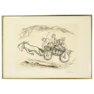"""Ira Moskowitz """"Reaches of Heaven No.14"""" Artist's Proof Limited Edition Etching For Sale"""