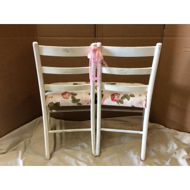 Custom Floral Ballerina Bench - Image 4 of 6