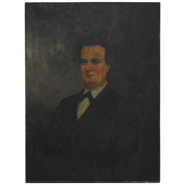 "Haunting 19th century English portrait of a gentleman oil on canvas signed ""G. Finley"" lower right. Unframed with a..."