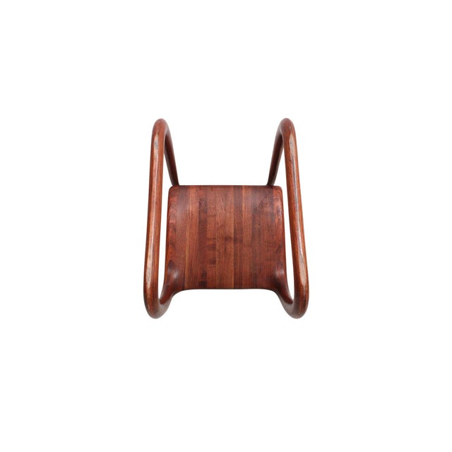 Wood Sculptural Walnut Chair by David Flatt For Sale - Image 7 of 13