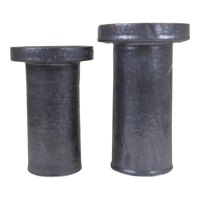 Johnathan Adler Candle Holders - a Pair For Sale